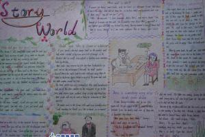 Story World hand-copied  news paper